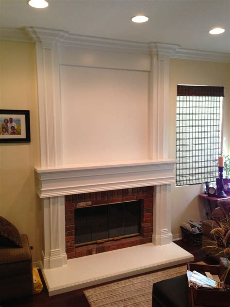 floor to ceiling mantel wainscot in chino