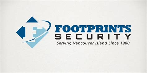 Cctv Footprint signs 187 footprints security logo