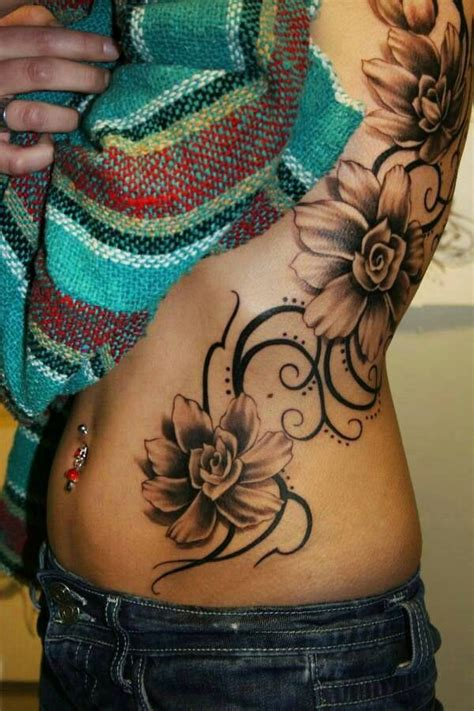 side tattoos for women beautiful flower side tattoos for design idea
