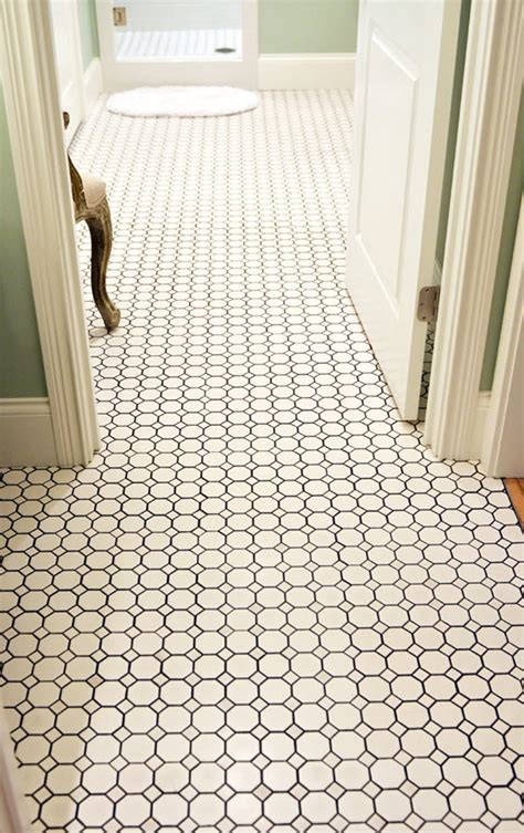 black and white bathroom floor tiles 23 black and white octagon bathroom floor tile ideas and