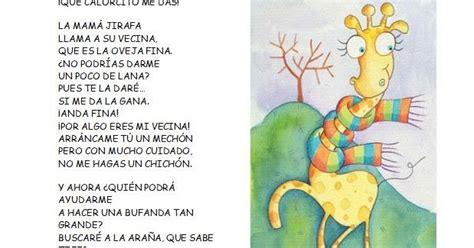 poema para jirafa menta m 225 s chocolate recursos y actividades para