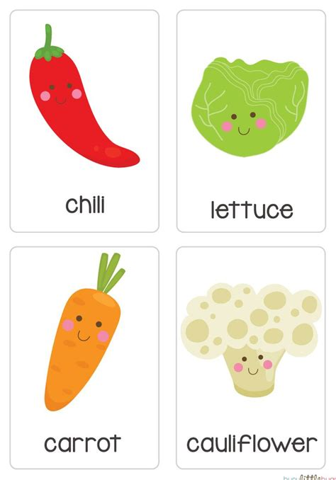 vegetable flashcards printable fruit vegetable flash cards automatic download