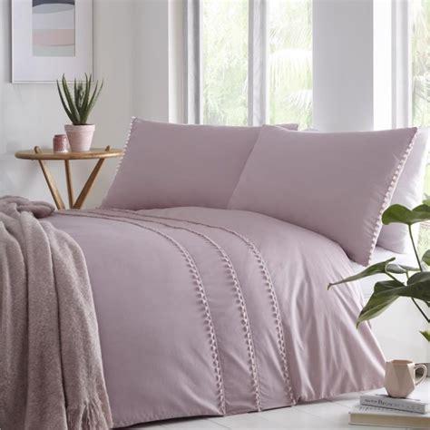 tassel trim duvet cover set blush pink tonys textiles