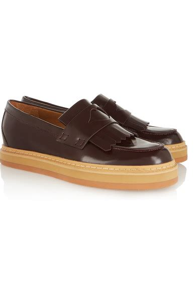 see by loafers see by chlo 233 glossed leather loafers net a porter