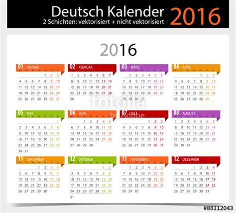 Calendã D 2016 Quot Kalender 2016 German Calendar 2016 Quot Stockfotos