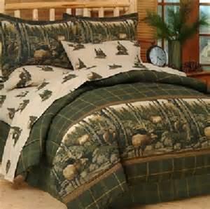 Pc full size comforter bedding set rustic wildlife cabin ebay