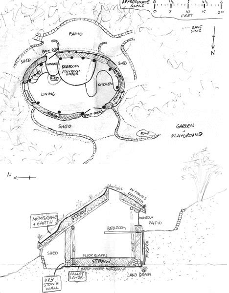 hobbit hole floor plan straw sticks secrets a hand built earthen hobbit home