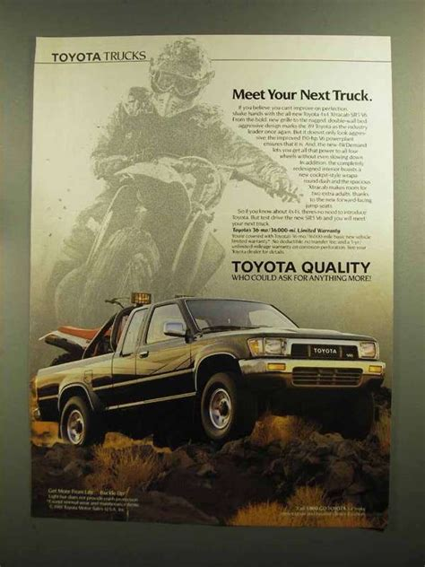 vintage toyota ad old toyota truck ads chin on the tank motorcycle stuff
