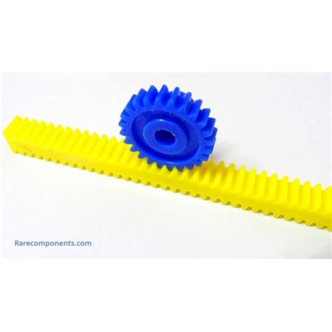 Plastic Rack And Pinion by Plastic Spur Pinion Gear Small Blue 6mm Circular Shaft