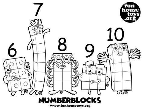 numberblocks    printable coloring coloring
