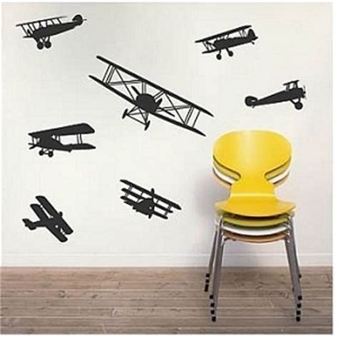 B18 Wall Border Sticker airplane wall decals bedroom decor removable wall