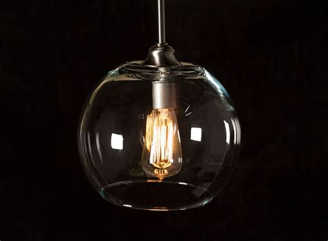 Edison Pendant Light Pendant Light Fixture Edison Bulb Brushed Nickel Large Globe Dan Cordero