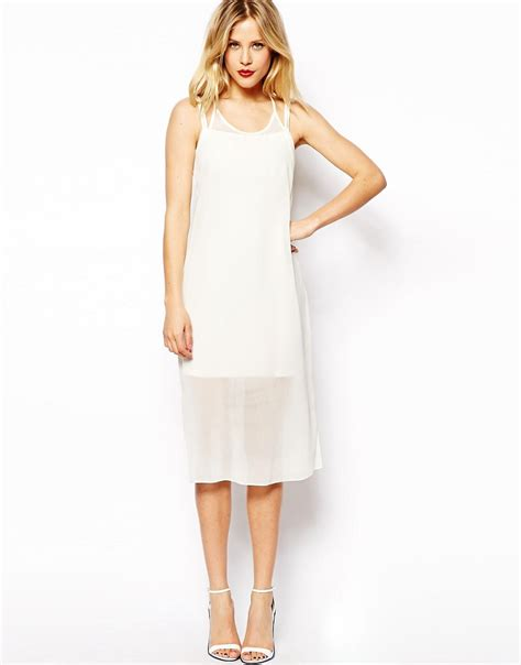 Mini Dress With Overlay asos asos sheer overlay mini dress at asos