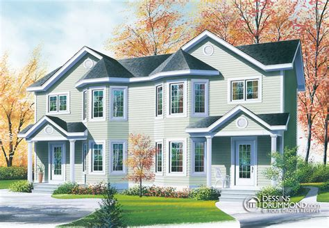 duplex two story house plans ch 234 tre manoirs ch 226 teaux jumel 233 s bi g 233 n 233 ration w3008 maison laprise