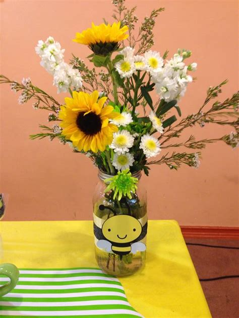 Jars For Baby Shower by Jar Flower Centerpieces For A To Bee Themed