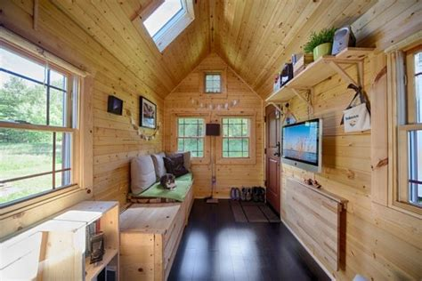 tiny house living room tiny tack house living large in a tiny house