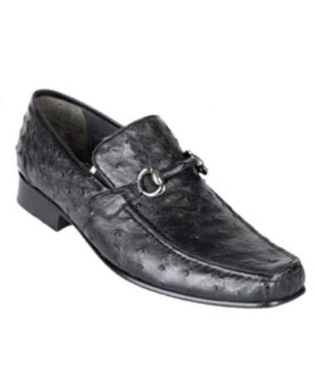 ostrich skin loafers los altos genuine ostrich skin black quill bit loafers shoes