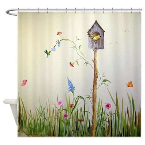 Birdhouse Shower Curtain By Simpleshopping