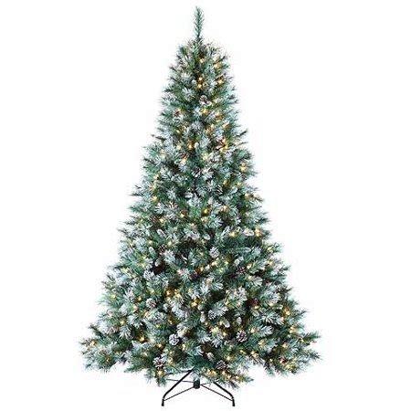 walmartcom mountain frost pine 7 pre lit frosted mountain pine artificial tree clear lights walmart
