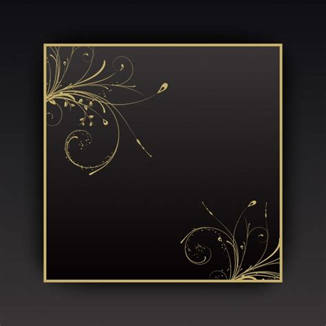 decorative design psd decorative background with floral elements with gold