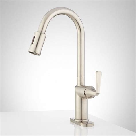 mullinax single hole touchless bar faucet with deck plate