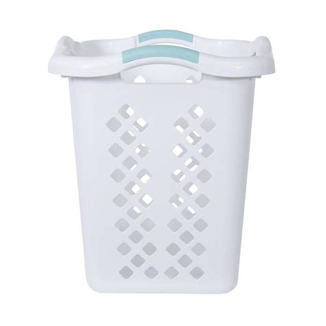 laundry lowes plastic laundry basket with wheels and handle interior