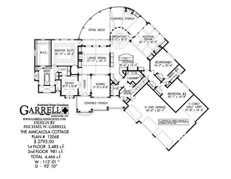 One Story Duplex House Plans amicalola cottage house plan 12068 covered porch plans