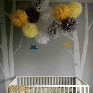 nursery decor in yellow and grey