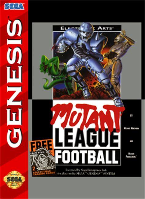 sega genesis football sega genesis mutant league football custom