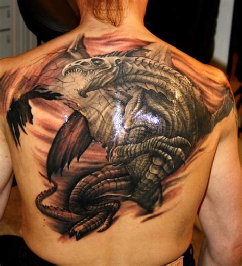 dragon back tattoos 20 tattoos tattoofanblog
