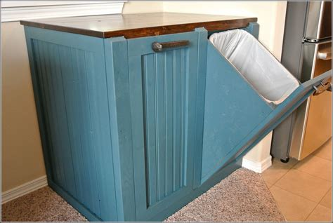 tilt out her cabinet plans amish wood kitchen trash bin garbage can amish trash bins