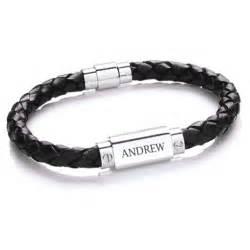 personalised mens leather bracelet treat republic