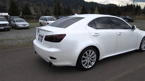 white lexus is 250 2008 2008 lexus is250 white stock h2082 walk around youtube