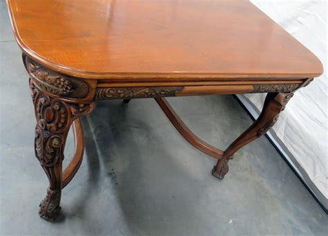 victorian style carved dining room table  sale  stdibs