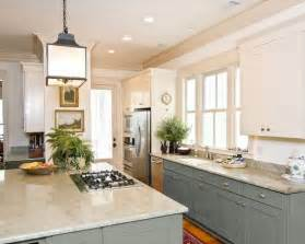 two tone painted kitchen cabinet ideas can you paint kitchen cabinets two colors in a small