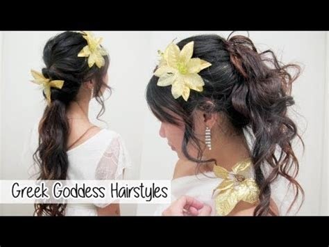 how to make a big greek goddess hair bun greek goddress hair tutorial l quick cute easy