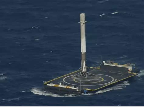 elon musk rocket landing elon musk hopes to launch landed rocket booster again
