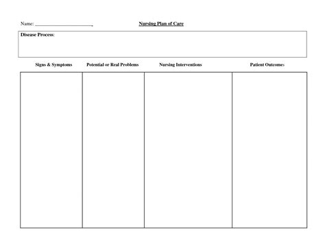 Free Nursing Care Plan Templates Free Business Template Flatoutflat Templates Free Templates For Care Maps