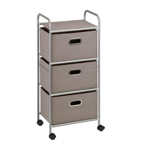 Rolling Cart With Drawers by Honey Can Do 3 Drawer Rolling Cart In Gray Crt 06248 The
