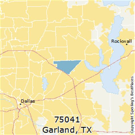 garland texas zip code map best places to live in garland zip 75041 texas