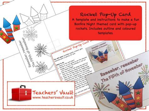 Firework Pop Up Card Template by Teachers Vault S Shop Teaching Resources Tes
