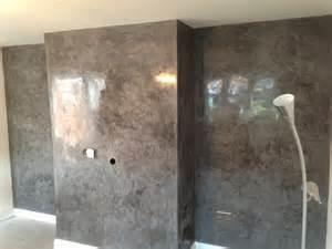 marmorino polished plaster in london deco cemento