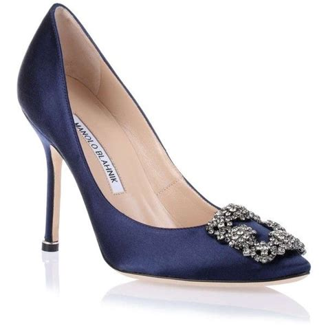 navy blue satin high heels manolo blahnik hangisi satin navy 1 275 cad liked