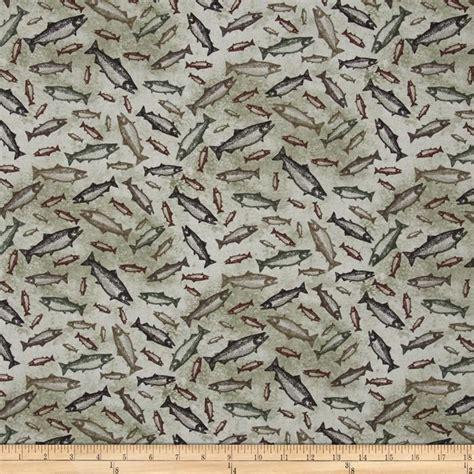 elk pattern fabric elk mountail toss fish light taupe discount designer