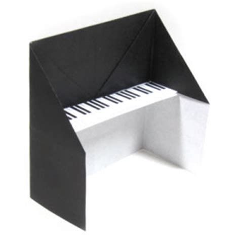 Origami Piano - how to make a traditional origami piano page 1