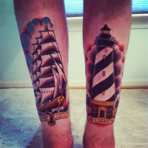 tattoo ink guide if you re lost at sea look to the light to guide you