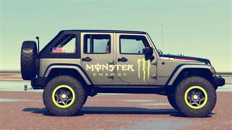 monster jeep jeep wrangler 2012 rubicon monster livery gta5 mods com