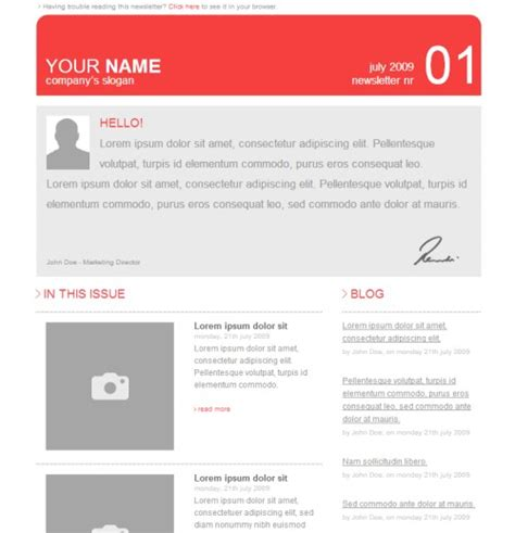 best free html email templates 40 best html email newsletter templates