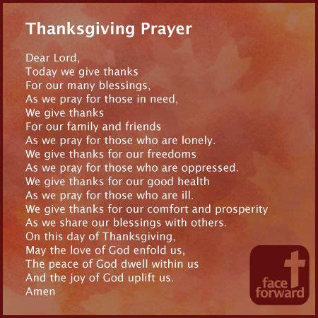 prayer for thanksgiving face forward prayers pinterest