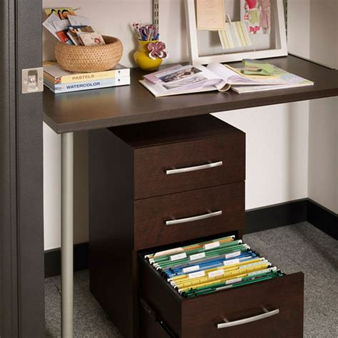 closetmaid shelftrack drawers closetmaid 174 shelftrack elite home office kit closetmaid